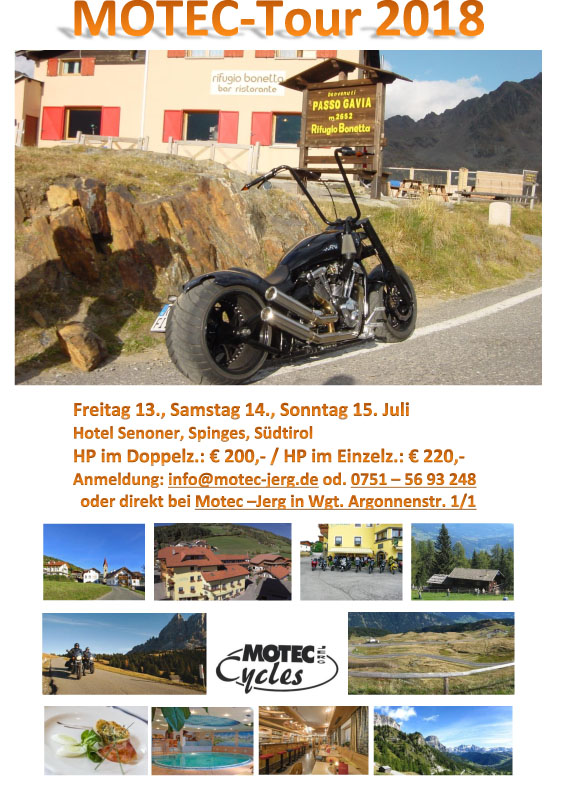 MOTEC GO´S ON TOUR 2018